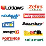 No Frills, Loblaws, Valumart, Fortinos, Independent Grocer, Real Canadian Superstore, Wholesale Club, Zehrs