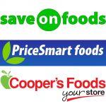 Save-On-Foods, Pricesmart Foods, Cooper's Foods