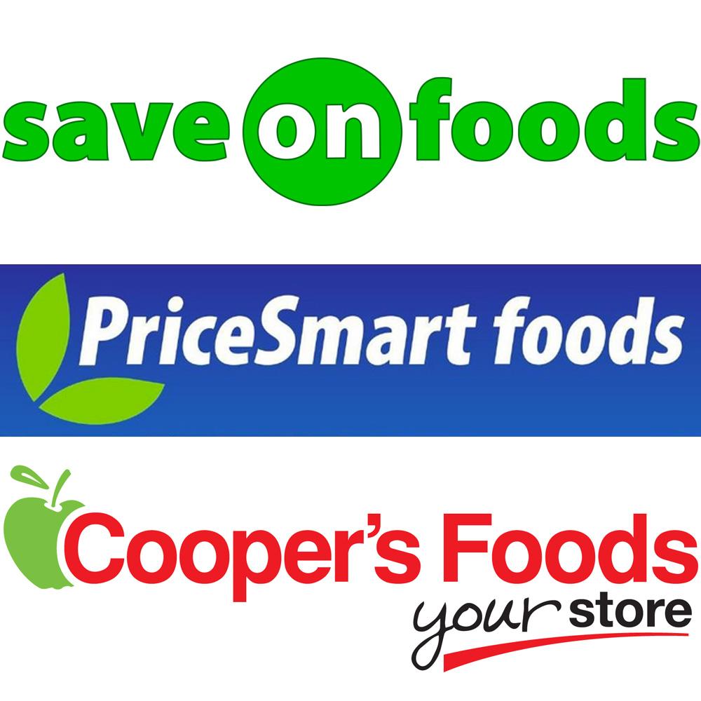 Overwaitea Foods (Save-On-Foods, PriceSmart foods, Cooper's Foods) Gift Cards
